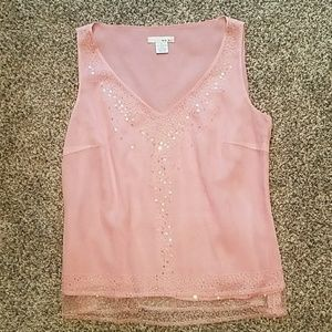 Pink Tank Top with sequins